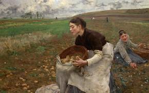 Картинка October, 1878, Октябрь, французский живописец, French painter, oil on canvas, National Gallery of Victoria, Национальная …