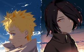 Картинка Naruto, мальчики, Uchiha Sasuke, Uzumaki Naruto