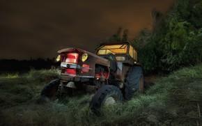 Картинка фон, трактор, лом