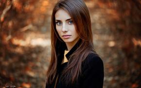 Обои осень, взгляд, девушка, Наталья, Ann Nevreva