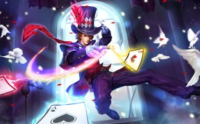 Картинка карты, игра, шляпа, парень, King of Glory, Король славы
