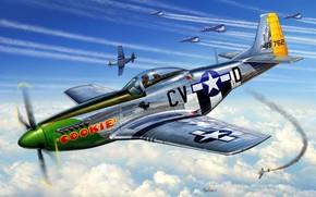 Картинка B-17, USAAF, 8th Air Force, P-51D-5-NA, 368th FS, 359th FG, Lt.Johnny Gordon
