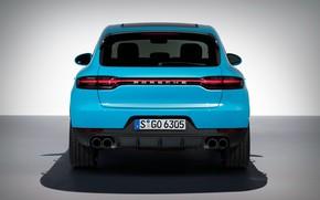 Картинка Porsche, вид сзади, 2018, кроссовер, Macan, Macan S