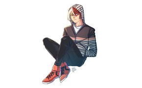 Картинка парень, Boku No Hero Academia, Тодороки Шото, Моя геройская акадеимя