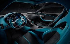 Картинка Bugatti, суперкар, салон, 2018, гиперкар, Divo