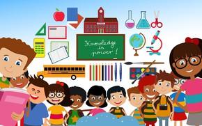 Картинка дети, школа, знания, учёба