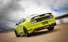 Картинка скорость, Mustang, Ford, вид сзади, AU-spec, R-Spec, 2019, Australia version