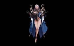 Картинка Girl, Art, Background, Minimalism, Dress, Wizard, Dark Magician, Byeol kim, Coco kim