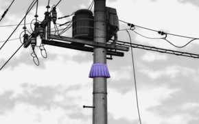 Картинка провода, юбка, столб, трансформатор, электрические