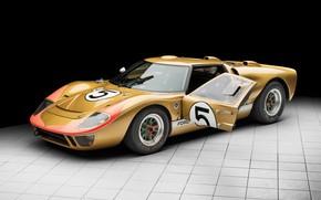 Картинка Ford, Дверь, Фары, 1966, 24 Hours of Le Mans, 24 часа Ле-Мана, GT40, Спорткар, Sports …