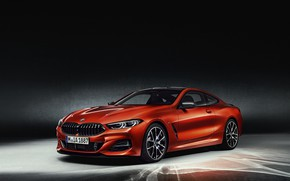 Картинка оранжевый, фон, купе, BMW, Coupe, 2018, 8-Series, 8er, G15