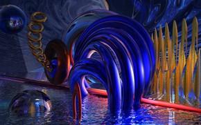 Картинка вода, фон, форма