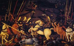 Картинка картина, Paolo Uccello, Паоло Учелло, батализм, Битва при Сан-Романо