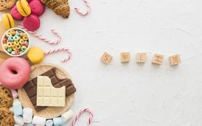 Картинка Colorful, десерт, конфеты, Bakery, сладкое, Sweet, Chocolate, шоколад, Wood, Candy