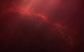 Картинка Звезды, Космос, Fantasy, Арт, Stars, Space, Art, Фантастика, Пространство, StarkitecktDesigns, by StarkitecktDesigns, Red Crow Nebula