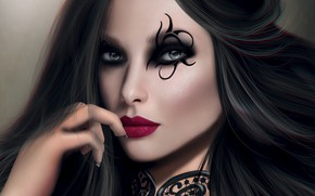 Картинка девушка, волосы, макияж