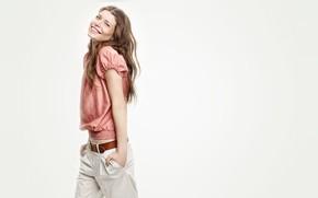 Картинка улыбка, модель, Louise Pedersen