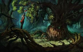 Картинка улыбка, дерево, человек, плод, Chris Karbach