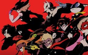 Картинка цвет, персонажи, Persona 5, Персона 5