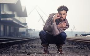 Картинка взгляд, мужчина, пиджак, Alexander Steger