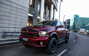Картинка город, улица, Dodge, пикап, Ram, 2017, 1500 RX Crew Cab, Militem