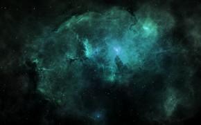 Картинка Звезды, Космос, Туманность, Fantasy, Арт, Stars, Space, Art, Planet, Фантастика, Nebula, Tim Barton, Cosmicspark, by …