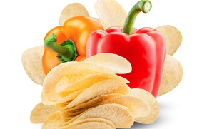 Картинка перец, овощи, чипсы