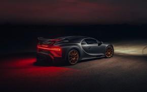 Картинка свет, ночь, Bugatti, Chiron, 2020, Chiron Pur Sport