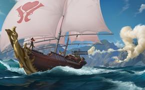 Картинка корабль, парусник, Miss Fortune, Legends of Runeterra