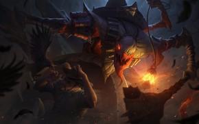 Картинка монстр, League Of Legends, Fiddlesticks