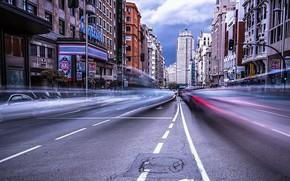 Обои город, улица, Madrid
