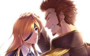 Картинка улыбка, двое, Archer, Fate / Grand Order, Ophelia Phamrsolone, Судьба/великая Компания