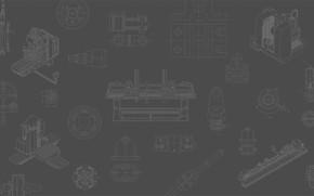 Картинка фон, текстура, шестерни, чертежи, станки, оборудование, приспособления, эскизы, станочное, чпу