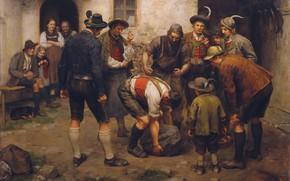Картинка 1898, Austrian painter, австрийский живописец, oil on canvas, Franz von Defregger, Franz Defregger, Франц фон …