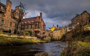 Картинка город, Шотландия, Scotland, Эдинбург, Edinburgh, Dean Village