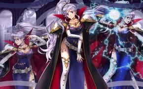 Картинка девушка, магия, молния, Fire Emblem