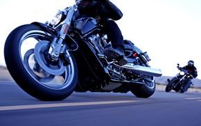 Картинка Мотоцикл, Мотор, Шоссе