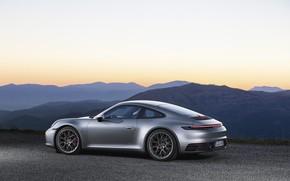 Картинка вечер, 911, Porsche, Carrera, Carrera 4S, 2019