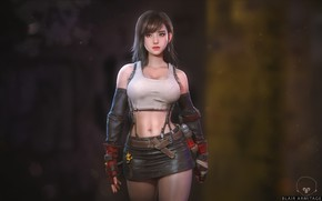 Картинка арт, Final Fantasy, ff7, Tifa Lockhart, Blair Armitage