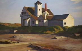 Картинка Эдвард Хоппер, 1929, Coast Guard Station