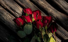 Картинка цветы, букет, Доски, Розы, бутоны