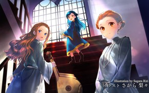Картинка девочки, лестница, Ascendance of a Bookworm, Власть книжного червя