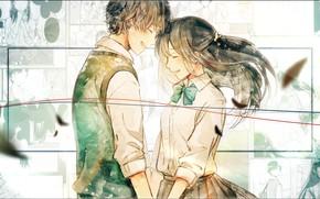 Картинка романтика, двое, Kimi ni Todoke, Дотянуться до тебя