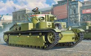 Картинка танк, СССР, РККА, Средний, Т-28, Бронетанковые войска, трехбашенный