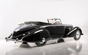 "Картинка Кабриолет, Classic, Lancia, Хром, Classic car, 1936, Lancia Astura Cabriolet ""Tipo Bocca"""