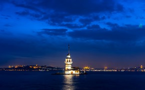 Картинка Стамбул, Турция, Istanbul, Turkey, Девичья башня, Sea of Marmara, Maiden's Tower, Kiz Kulesi