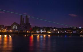 Обои Англия, лазерное шоу, Гринвич, инсталяция «0-й градус»