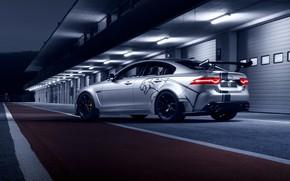 Обои XE SV, вид сзади, 2018, Jaguar, Project 8