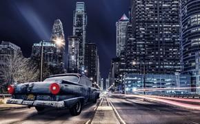 Картинка машина, ночь, город