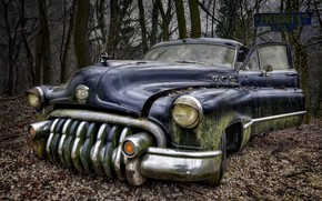 Картинка Car, Buick, Abandoned, Rusty, Oldtimer, Lost Places